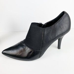 Tahari Leather Stiletto Bootie Mixed Leather V215
